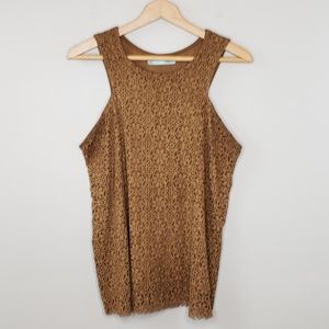 Maurices Faux Suede Laser Cut Tank Top